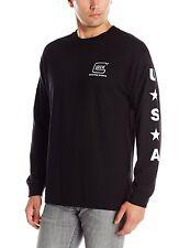 Glock Men's Shooting Sports Long Sleeve T-Shirt Black 100% Cotton Sizes XLarge
