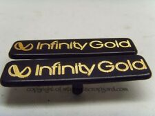 Jeep Grand Cherokee WJ 99-04 3.1 TD infinity gold badges x2 speaker cover badges
