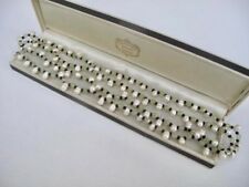 Genuine FRESHWATER PEARLS 40 Inches Necklace Green Black Beads Jewellery 34g
