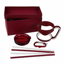 MAROON GIFT SET Handle Lid Straw Accessories For RTIC Yeti Ozark 30 OZ TUMBLER