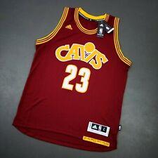100% Authentic Lebron James Adidas Cavaliers Swingman Jersey Size L Mens