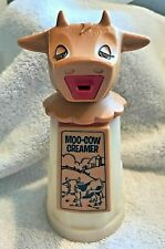 New listing Vintage Moo-Cow Creamer Plastic Pitcher, 1970's Whirley Industries Made in Usa
