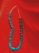 Sleeping Beauty Turquoise Necklace  with Sterling Silver