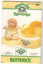 Butterick 6661 CABBAGE PATCH KIDS DOLL BED CARRIER Sewing Pattern