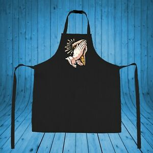 Pray Pizza Apron Food Gift Custom Vinyl Printing Cooking Lovers Chef Kitchen