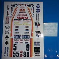 HOTSHOT 2 CUSTOM TAMIYA HPI LOSI RC 1/10th VINTAGE PLUS EXTRA DECALS STICKERS