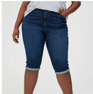 V By Very Curve Longline Dark Wash Shorts Size 16 Bnwt r.r.p £27.99