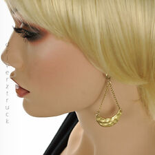 with Half Moon Accent Dangle Earring Jennifer Lopez Hammered Gold Earrings Chain