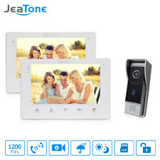 7'' TFT Video Door Phone Doorbell Video Camera 1200TVL intercom system JeaTone