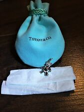 $155 Tiffany & Co. Teddy Bear Charm Pendant 925 Sterling Silver