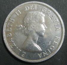 CANADA - ONE DOLLAR 1963 - REINE ELIZABETH II -  Argent 36 mm