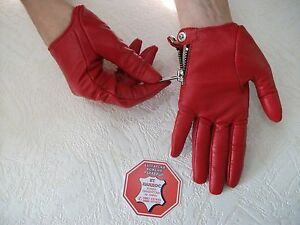 FASHION WOMEN'S RED LEATHER DRIVING GLOVES SIZE 7, 7.5, 8,8.5