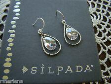 """Silpada Sterling Silver Cz """"Harbor Lights"""" Earrings W2284"""