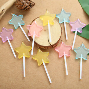 10pcs/lot Star Lollipop Charms For DIY Keychain Pendant Necklace Jewelry Making