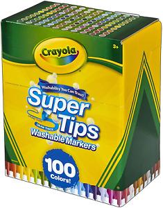 Super Tips Washable Marker Set Assorted Colors for Kids - 100 Count