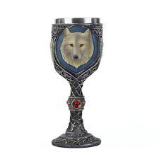 Stainless Steel 3D Wolf Head Wine Goblet Coffee Mug Cup Drinkware Halloween