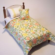 Dolls House Bedding Set -1/12 Handmade - Single Bed size