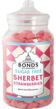 BONDS SUGAR FREE - SHERBET STRAWBERRIES - 2KG JAR, TRADITIONAL BOILED SWEETS,