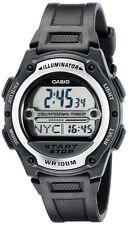 Casio W756-1A 100M Digital Sports Watch Alarm Stopwatch Auto LED Resin