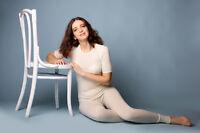 100% Merino Wool leggings base layer thermal elastic women pants