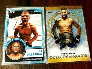 TJ Dillashaw Wave Refractors 2018 And 2019 Topps Chrome UFC