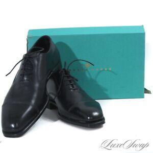 NIB $1390 Edward Green England Black Leather Pawsley 888 Captoe Shoes 7.5 / 8