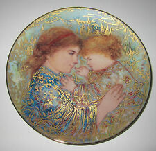 "Edna Hibel Mother's Eden ""Paradise Now"" Mother's Day Art Plate 1999"