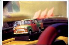 Postkarte Ostalgie DDR TRABI Auto als Modell Lenkrad