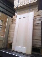 Solid Maple Wood Shaker Panelled/glazed Kitchen Unit Cabinet Cupboard Doors