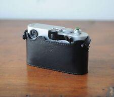 Zhou Black Leather Half Case w/o LCD CutOut f/ Leica M8 M9 M9P w/ Thumbs Up Grip