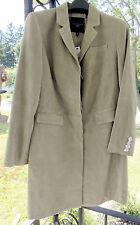 Talbots Goat Suede Walking Coat Jacket 12 Petite Flag-Stone Tan $900 Knee-Length