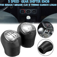 Gear Shift Knob For Renault Megane Clio II Twingo Kangoo 5 Speed PU Leather