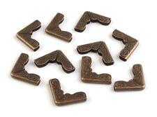 10 Taschenecken Buchecken Metall Ecke 14x14 mm messing