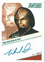 Quotable Star Trek TNG Autograph Card Michael Dorn as Lt. Worf QA5