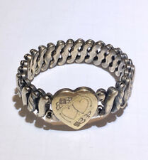 Vintage Sweetheart Expansion Bracelet Carmen DFB Co Gold Filled Floral Heart