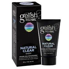 Gelish PolyGel Nail Enhancement Natural Clear 2oz / 60g For Sale!