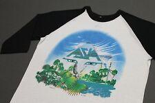M * thin vtg 80s 1983 ASIA Invasian raglan tour t shirt * 95.3 prog rock