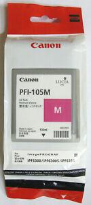 Canon PFI-105M Genuine Magenta Cartridge. New & Sealed. 130 ml. 11. 2013.