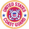"US Coast Guard  ""US COAST GUARD""   PATCH  Iron / Sew-on 3 inch patch"
