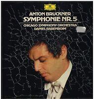 Bruckner: Symphonie No 5/Daniel Barenboim, Chicago Symphony Orchestra - LP
