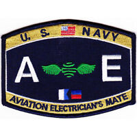 """US Navy Aviation Electrician's Mate Rating Patch 4 1/2"""" x 3 1/4"""" Licensed"""