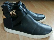 Womens 8 M Black Rock & Republic Strappy Tennis Shoes Sneakers Buckle Zip