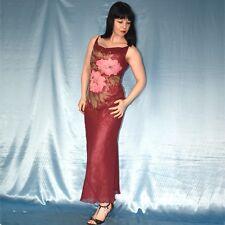 rosa-rotes TÜLLKLEID* XS 34  transparentes Abendkleid* Partykleid* Cocktailkleid