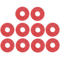 Pack of 10 Guitar Bass Strap Block Rubber Safety Strap Lock Washer Red