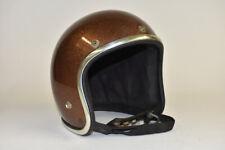 Arthur Fulmer AF20 Rootbeer Brown Metal Flake Motorcycle Safety Helmet