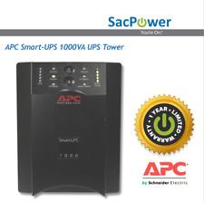 APC Smart-UPS 1000VA UPS Tower New Batteries 1 Year Warranty Includes AP9619 NMC