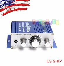 Mini 2CH Hi-Fi Audio Amplifier Booster MP3 Stereo For Car Motorcycle Boat Home
