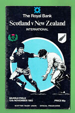 #Mm. Scotland V New Zealand Rugby Union Program 12th November 1983