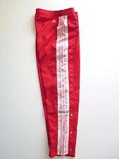Adidas Retro Vintage 90's Snap Buttons Mens Tracksuit Pants 3 Stripes Size S