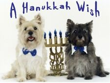 Pet Hanukkah Greeting Cards:Dog Cairn Menorah
